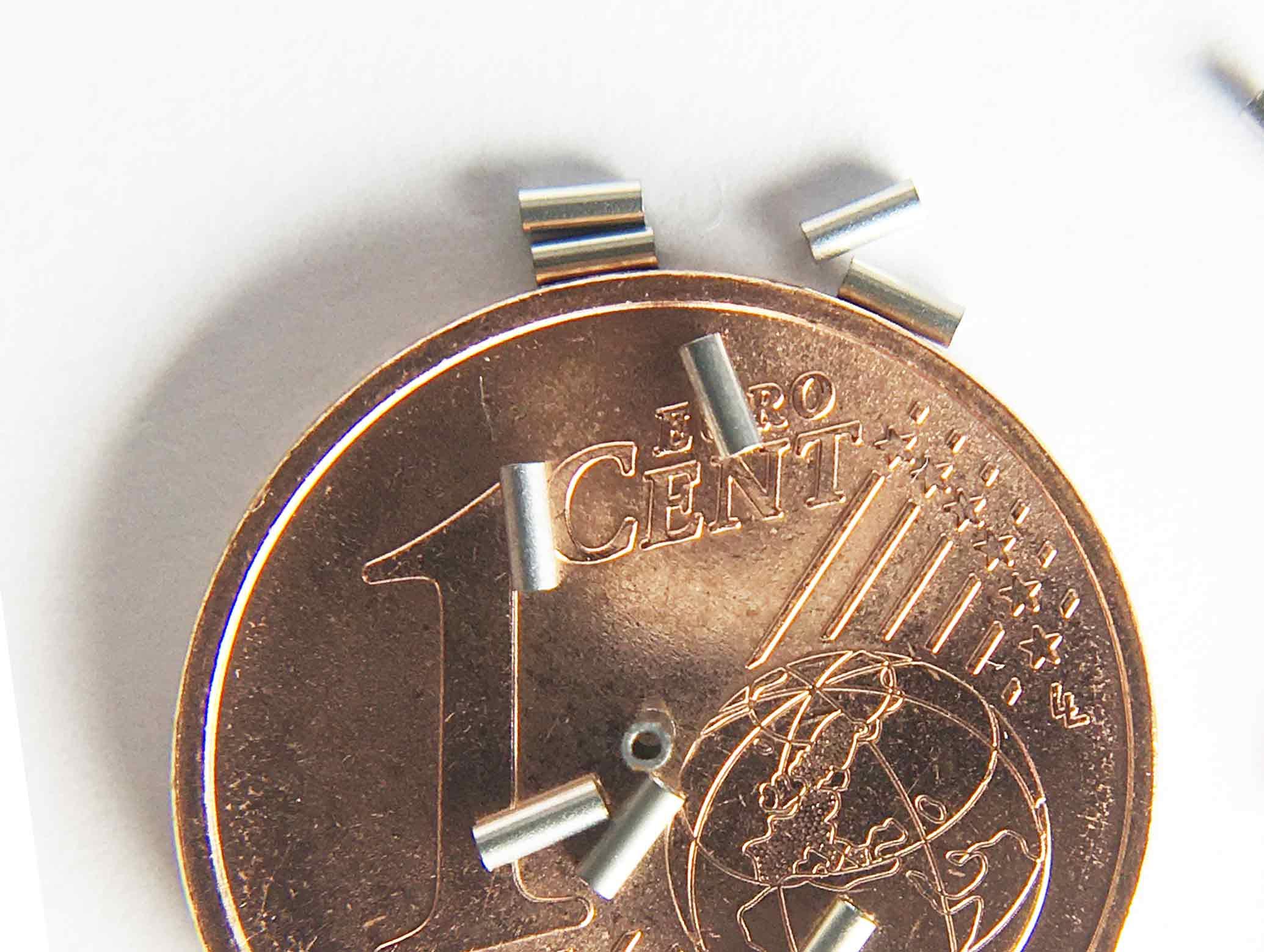 """SMT-Präzisionsröhrchen Crimpable Stop CT05 Innendurchmesser 0,5 mm / 0.02"""" Außendurchmesser 0,8 mm Länge 2,0 mm"""