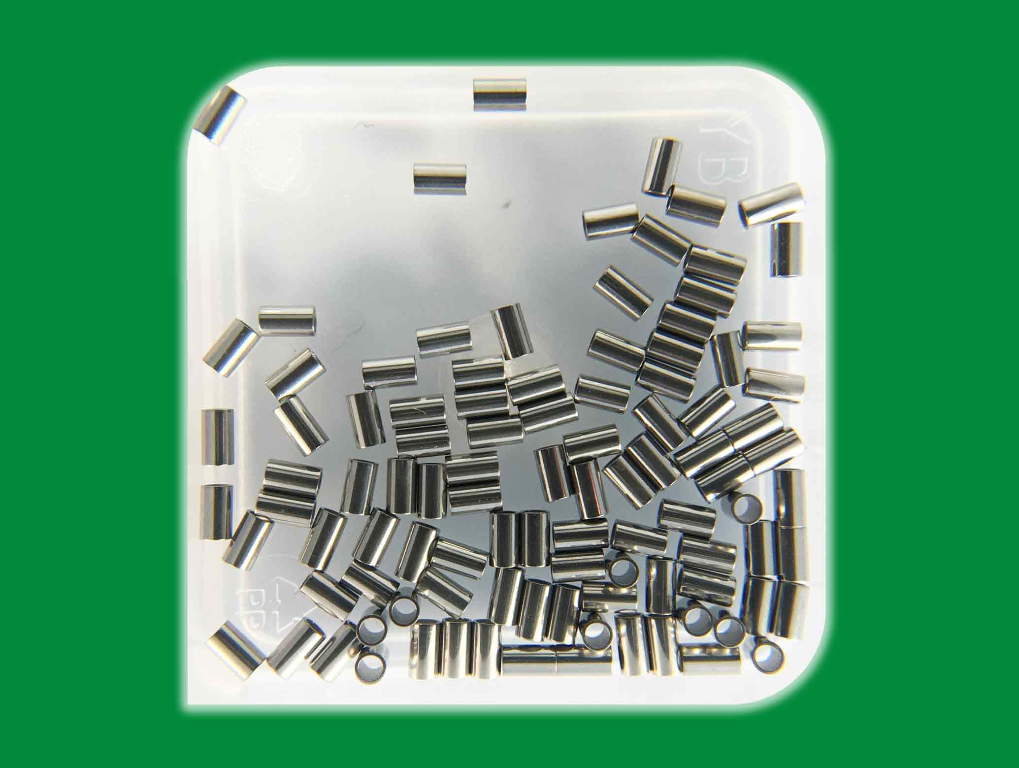 """SMT-Präzisionsröhrchen Crimpable Stop CT09 TowerX Innendurchmesser 0,9 mm / 0.035"""" Außendurchmesser 1,2 mm Länge 2,0 mm"""