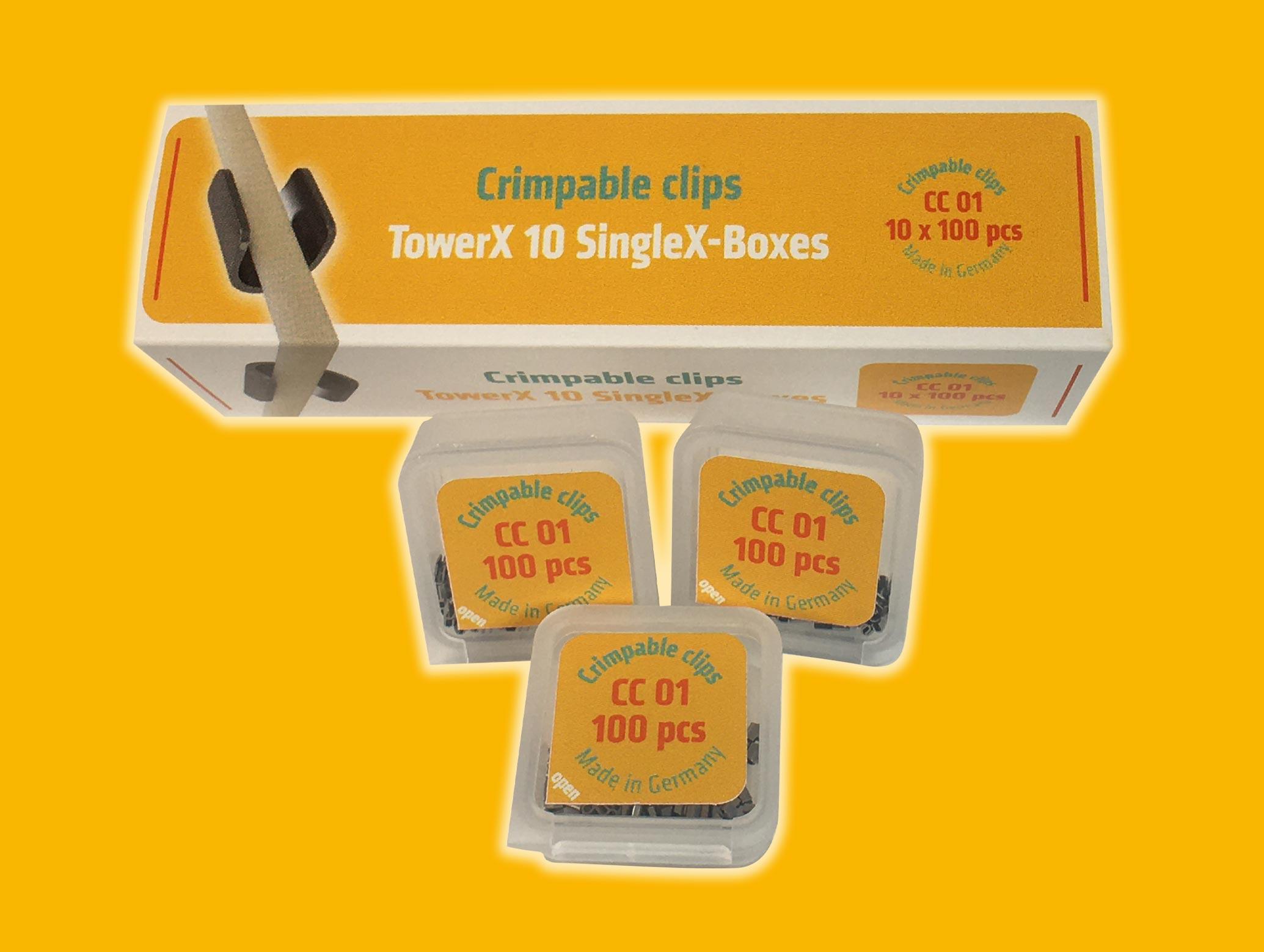 Crimpable clips CC01 TowerX