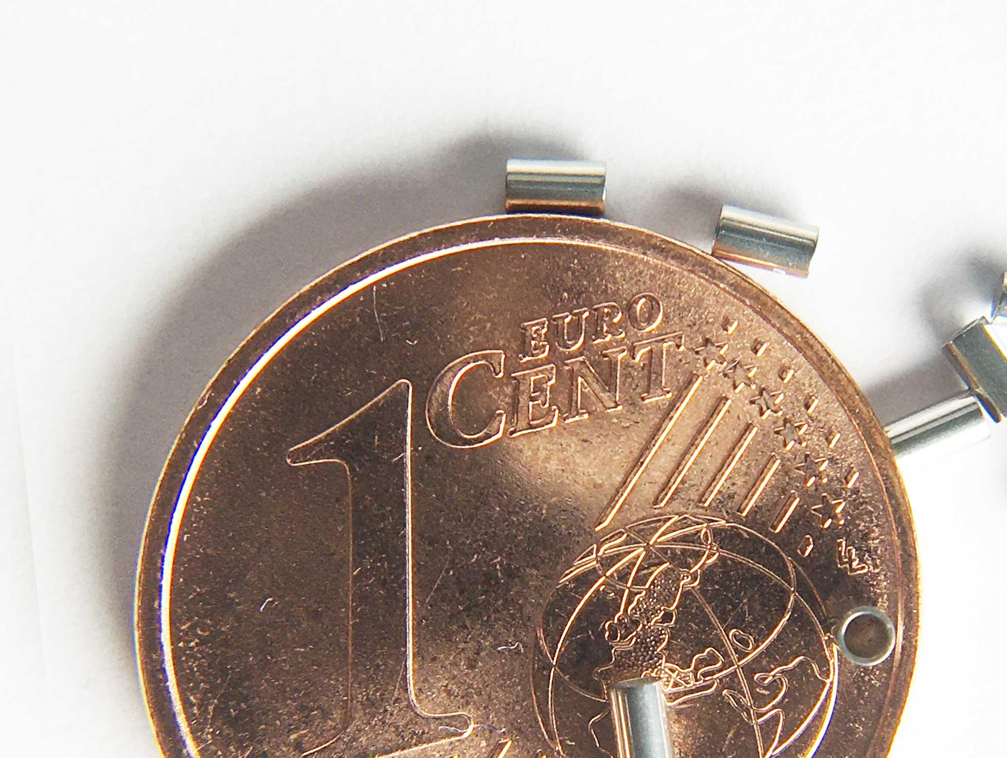 """SMT-Präzisionsröhrchen Crimpable Stop CT09 Innendurchmesser 0,9 mm / 0.035"""" Außendurchmesser 1,2 mm Länge 2,0 mm"""